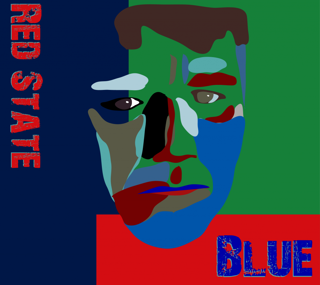 Red State Blue - Painting of Comedian Jay LaFarr by Jon Maas