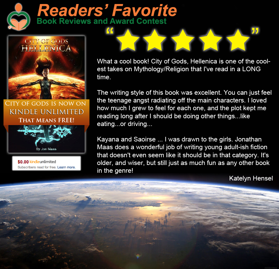 Reader's Favorite Review of City of Gods