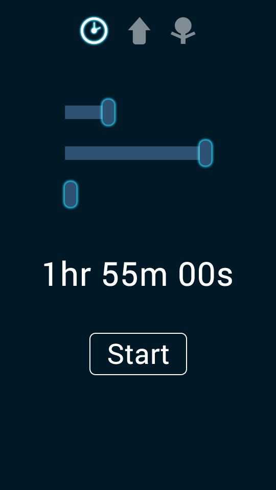 PersonalBest - Android App UI by Jonathan Maas - Screenshot 1 - 'Kitchen Timer'