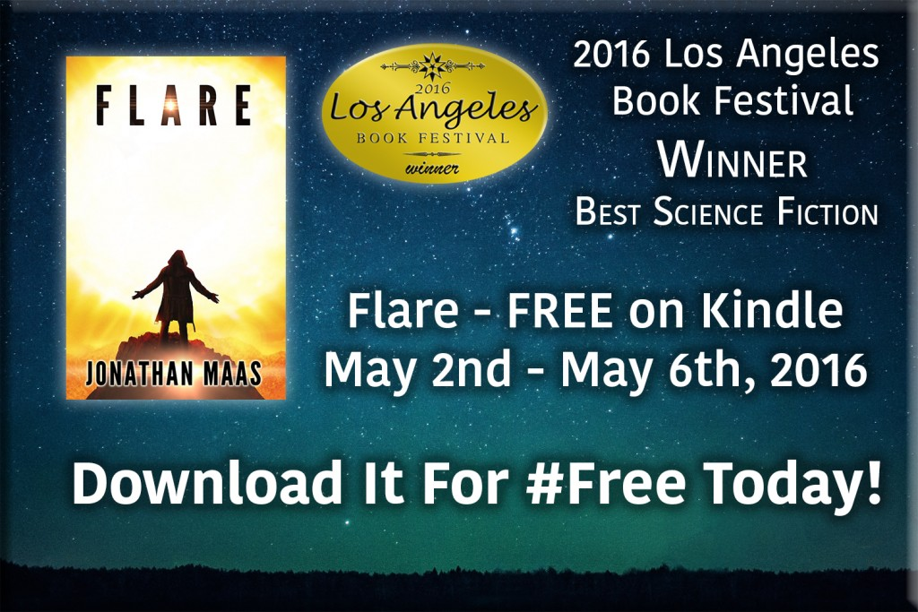 Promo for free Kindle giveaway - Flare - May 2nd - 6th, 2016