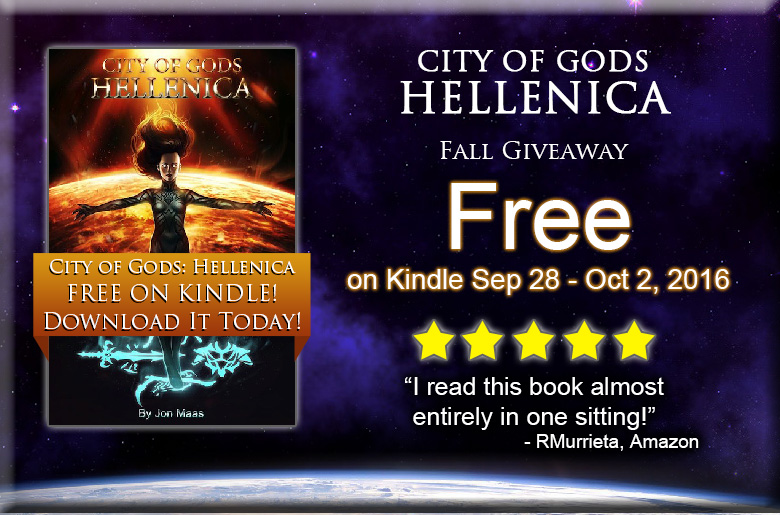Promo for City of Gods: Hellenica Giveaway - Sep 28 - Oct 2, 2016