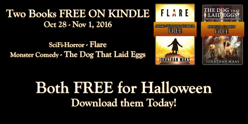 Halloween Promo - Flare and The Dog That Laid Eggs - Free on Kindle Oct 28 - Nov 1, 2016