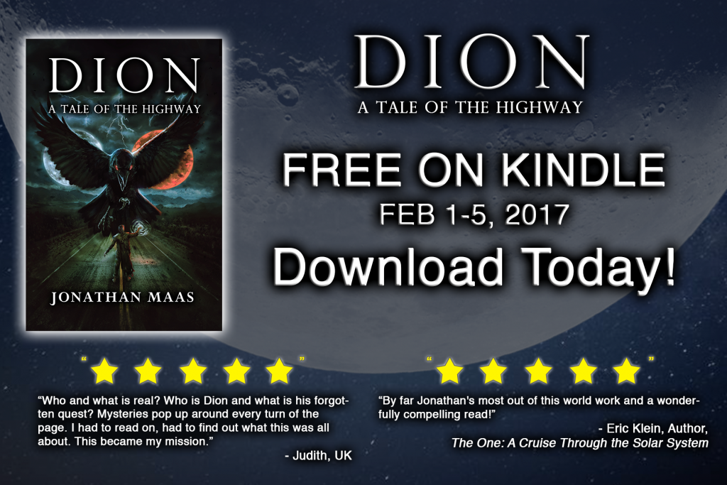 Promo for Dion: A Tale of the Highway - Free on Kindle Feb 1-5, 2017