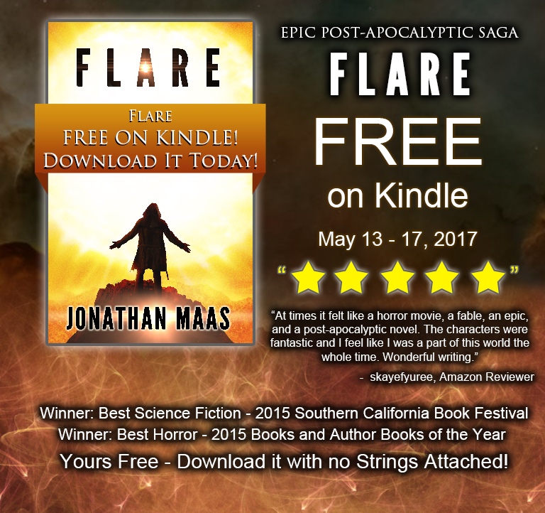 Promo for SciFi Horror Flare giveaway - free on Kindle from May 13-17.